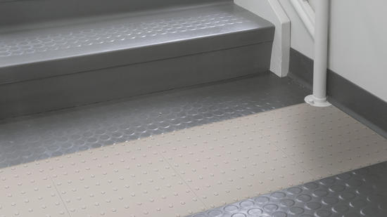 Tactile Warning Surface Rubber Stair Treads Risers Tarkett
